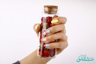 cute stripe nail art, easy-to-follow!