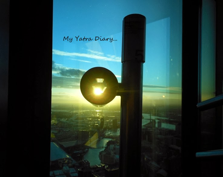 Eureka Sky deck sunset, Melbourne Victoria Australia