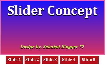 Slider concept image