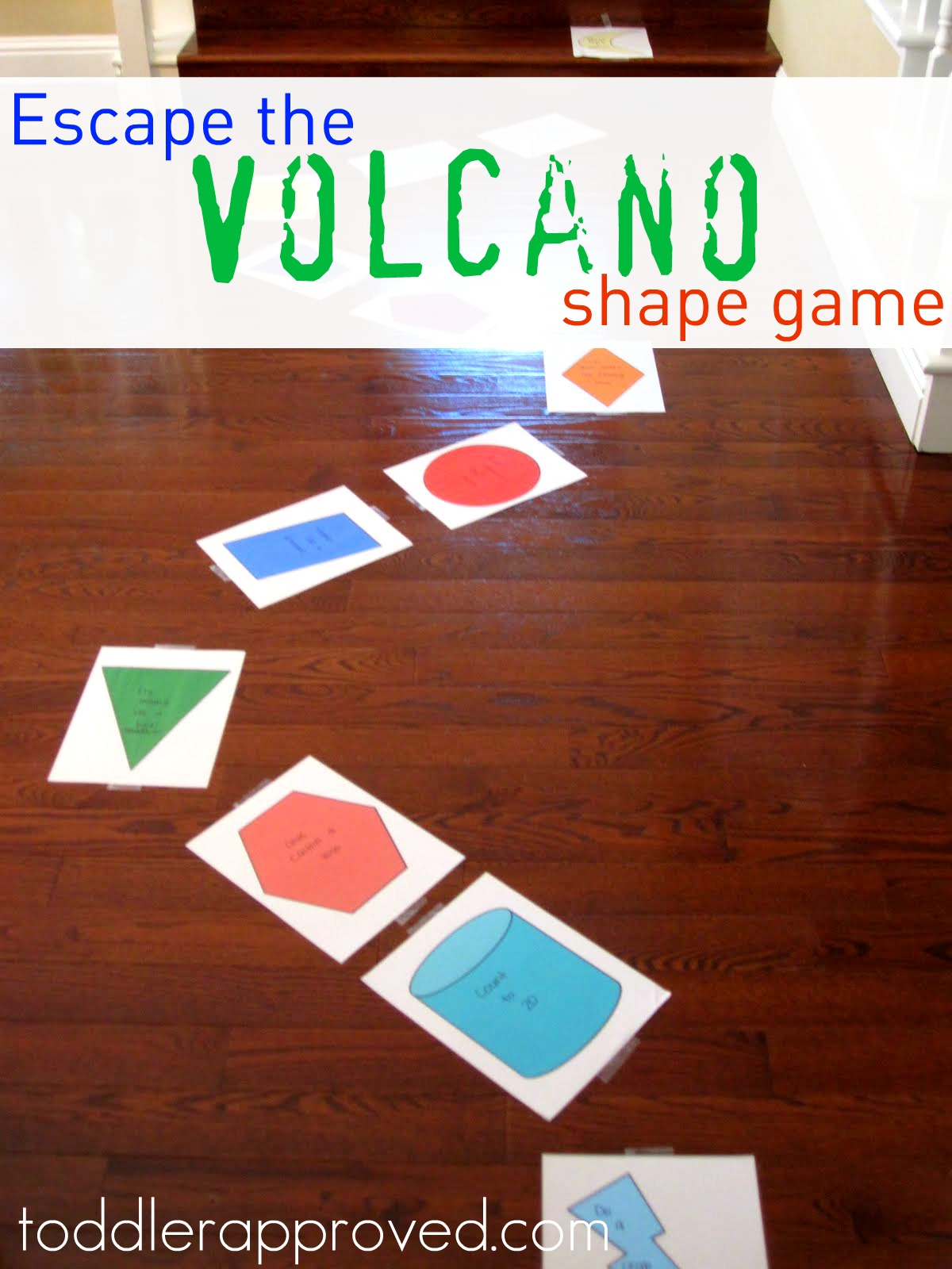 Toddler Approved Escape The Volcano Shape Game