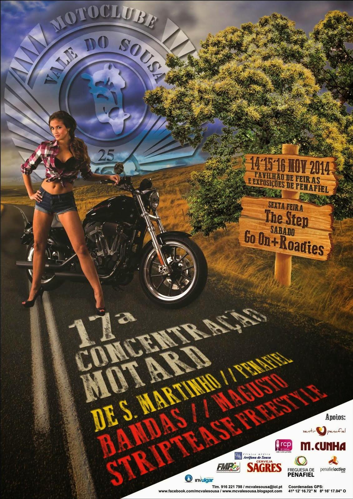 14-15-16 Nv. 14 XVII Concentração de S. Martinho Moto Clube Vale do Sousa
