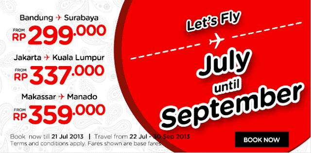 Promo Air Asia Terbaru Let's Fly Juli – September 2013