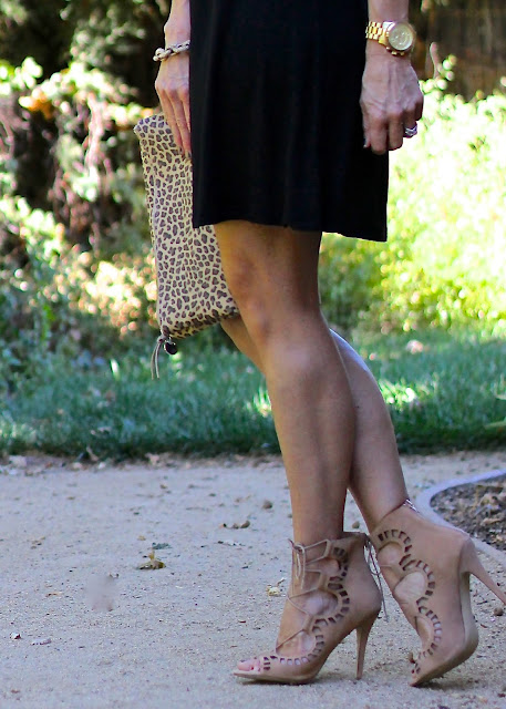 cut out lace up nude heels