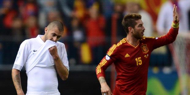 Hasil Pertandingan Spanyol vs Prancis, 17 Oktober 2012