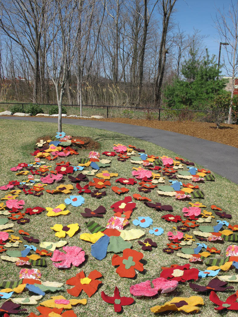 Stitch and Tickle New Project Community Art Garden for