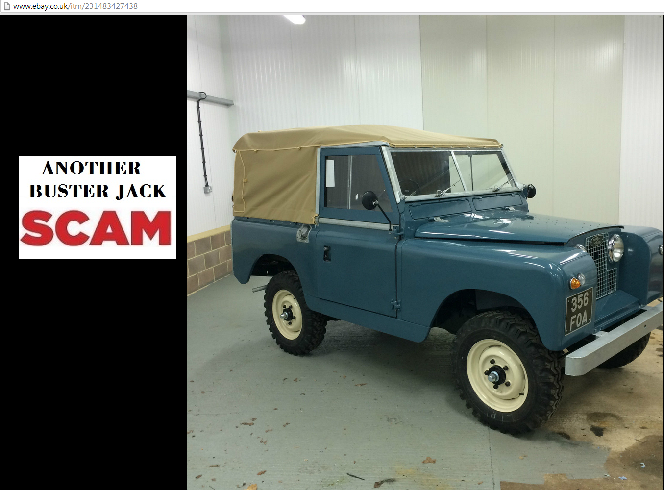Ebay scam : 1961 land rover series 2a \