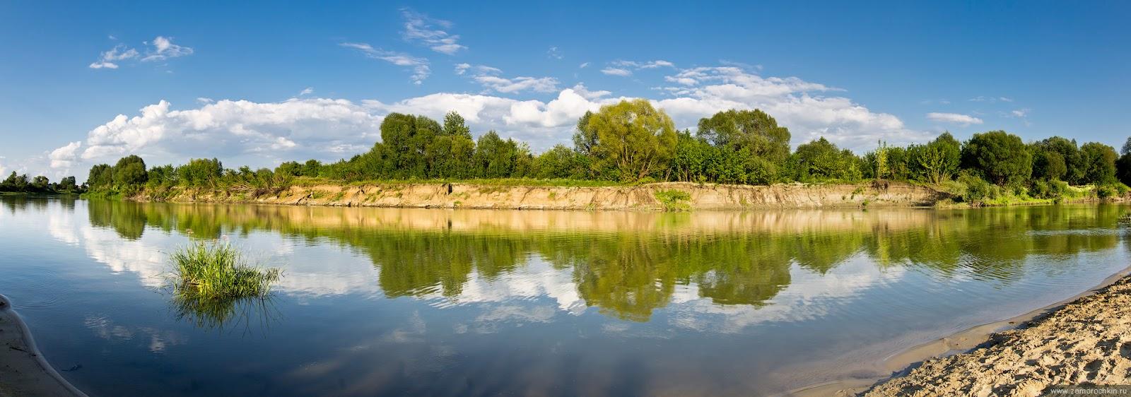 Панорама берега реки Мокша | Panorama of the river Moksha