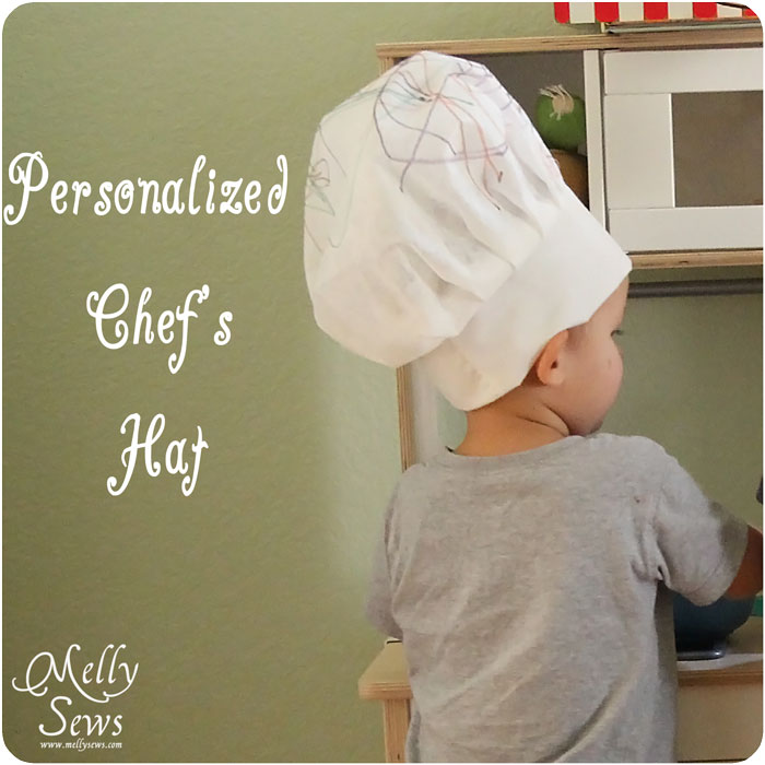 personalized chef hat tutorial melly sews