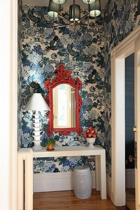 Chinoiserie Chic Red White Blue Chinoiserie The