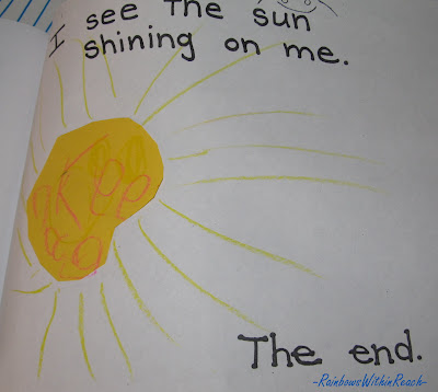 children's art for spring, sunshine, weather, painting, crayons, kindergarten, preschool, early literacy art