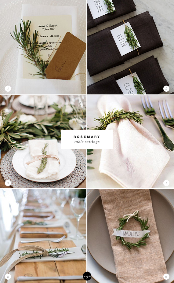 24 ways to decorate with rosemary this holiday | Rosemary table settings