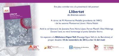 Invitació presentació 'Llibertat'