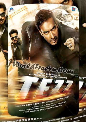 Poster Of Bollywood Movie Tezz (2012) 300MB Compressed Small Size Pc Movie Free Download worldfree4u.com