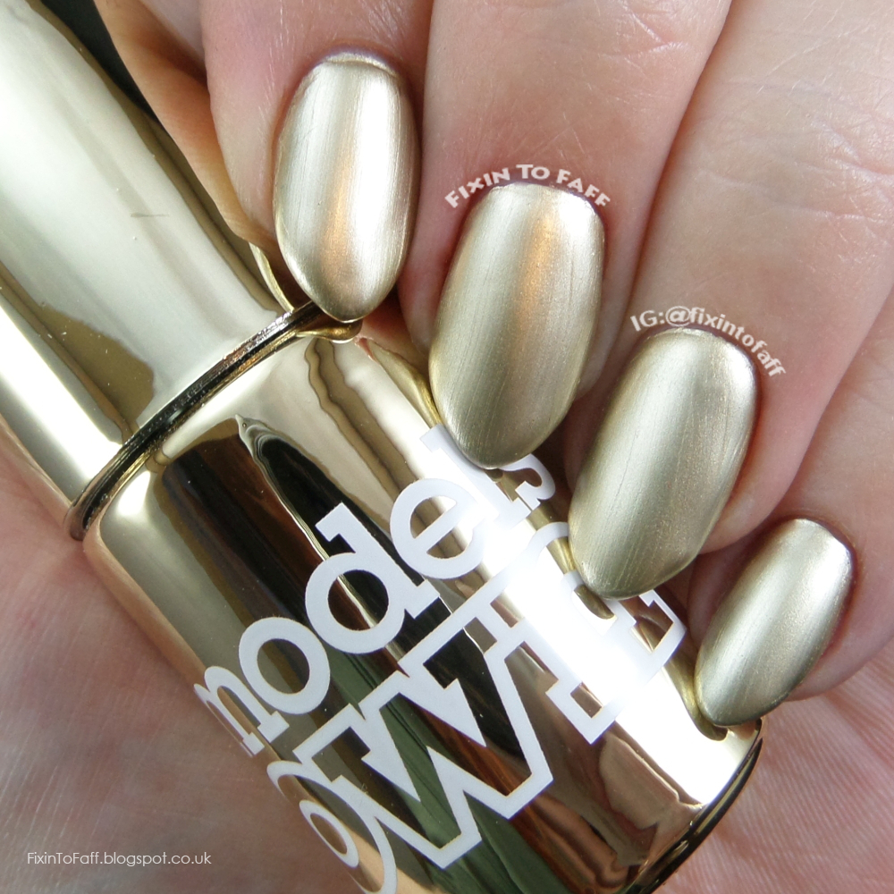 Swatch and review of Models Own Colour Chrome collection, Chrome Gold