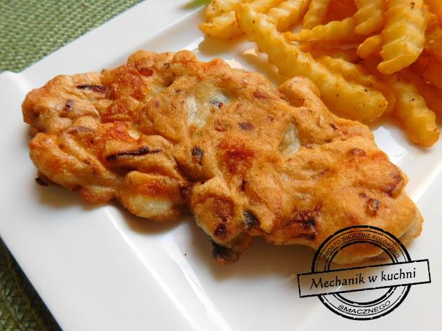 Kurczak frytki danie obiad pomysł bloger kulinarny Pszczyna mechanik samochodowy gotuje smażony kurczak filet drobiowy