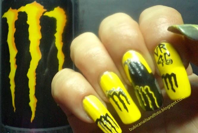 1774 Monster Energy Yamaha Style Nails Valentino Rossi Nail Art