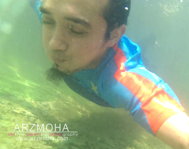 tidur dalam air, selfie, taman rimba pulau pinang, taman rimba teluk bahang, apa yang menarik di pulau pinang, kualiti gambar sj cam,