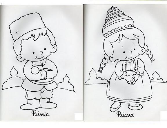 Imagenes de niño de diferentes paises imagen para colorear ...