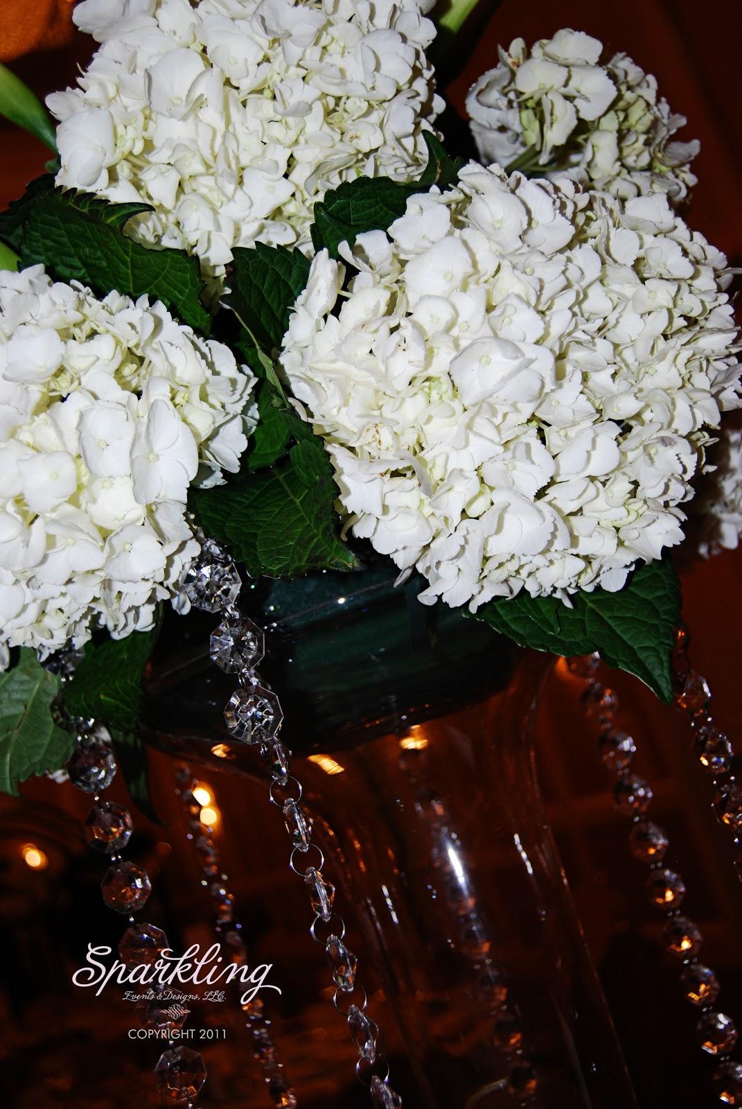 David tutera inspired wedding centerpieces sparkling