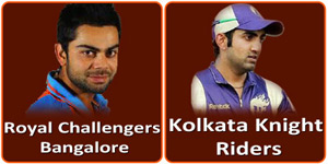 KKR Vs RCB is on 12 May 2013.