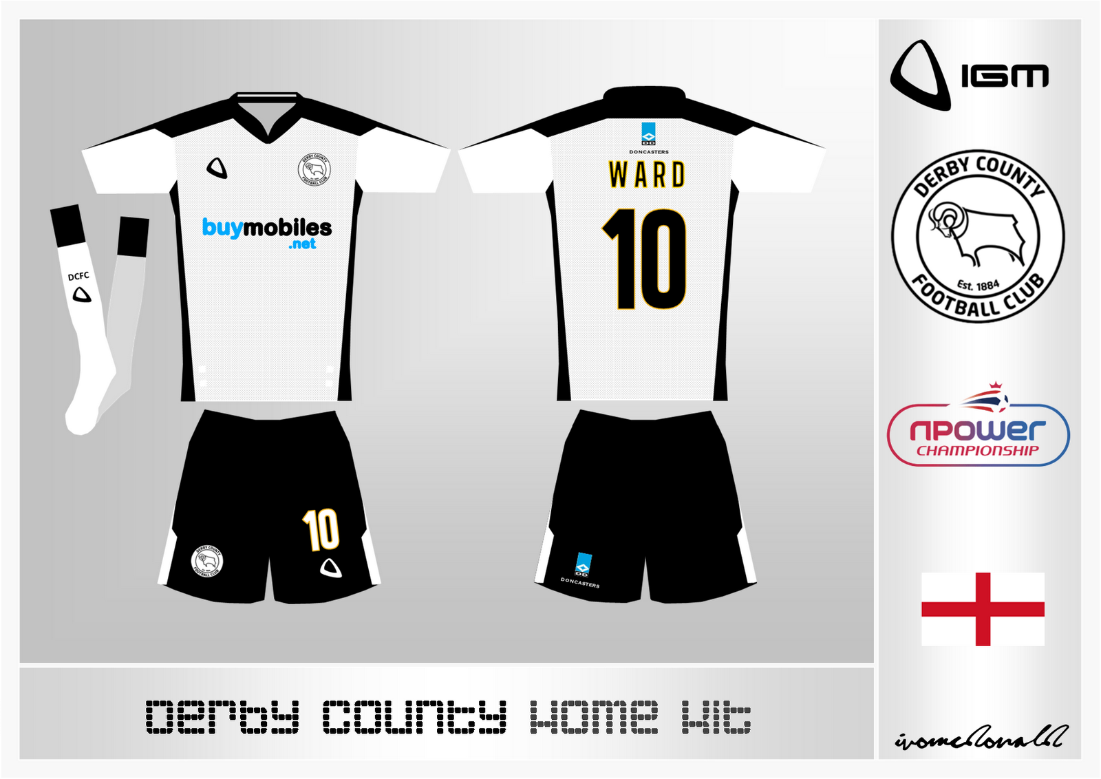 IGM Sports: Derby County Home Kit