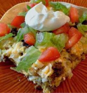 Taco- Dish Recipe; Layered Taco Casserole