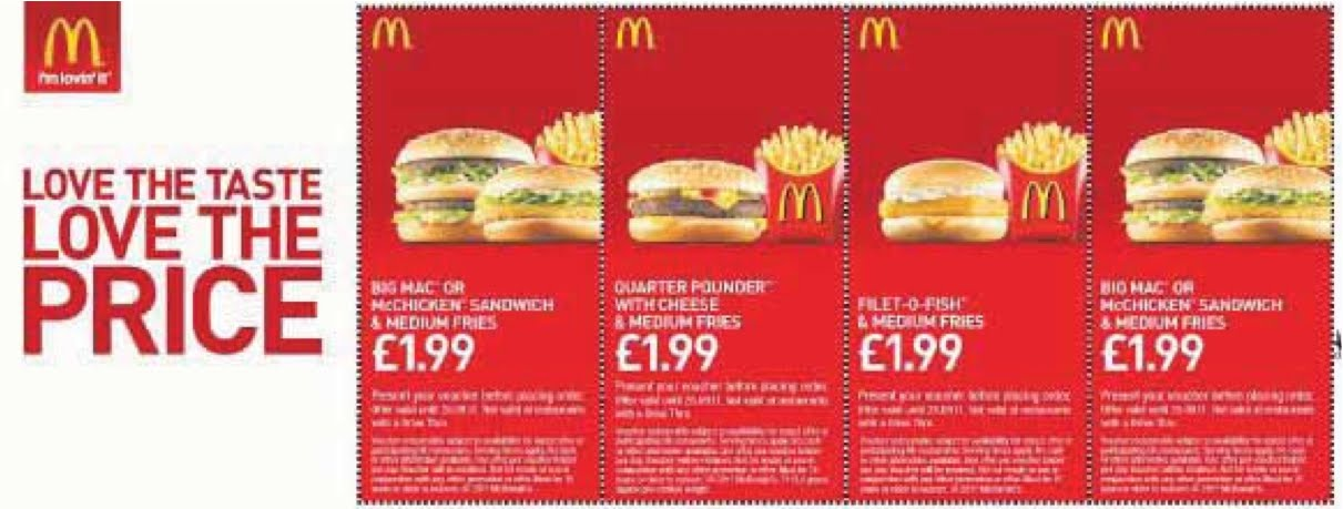 Mcdonald's deals of the day