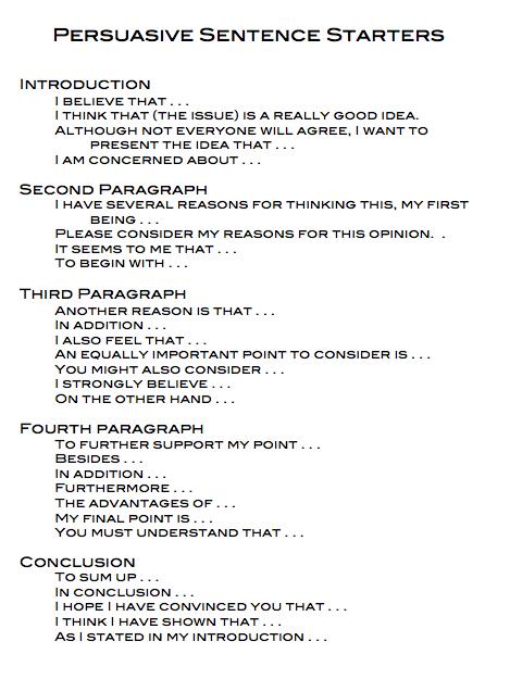 Hints writing persuasive essay