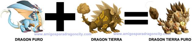 como sacar el dragon tierra puro en dragon city