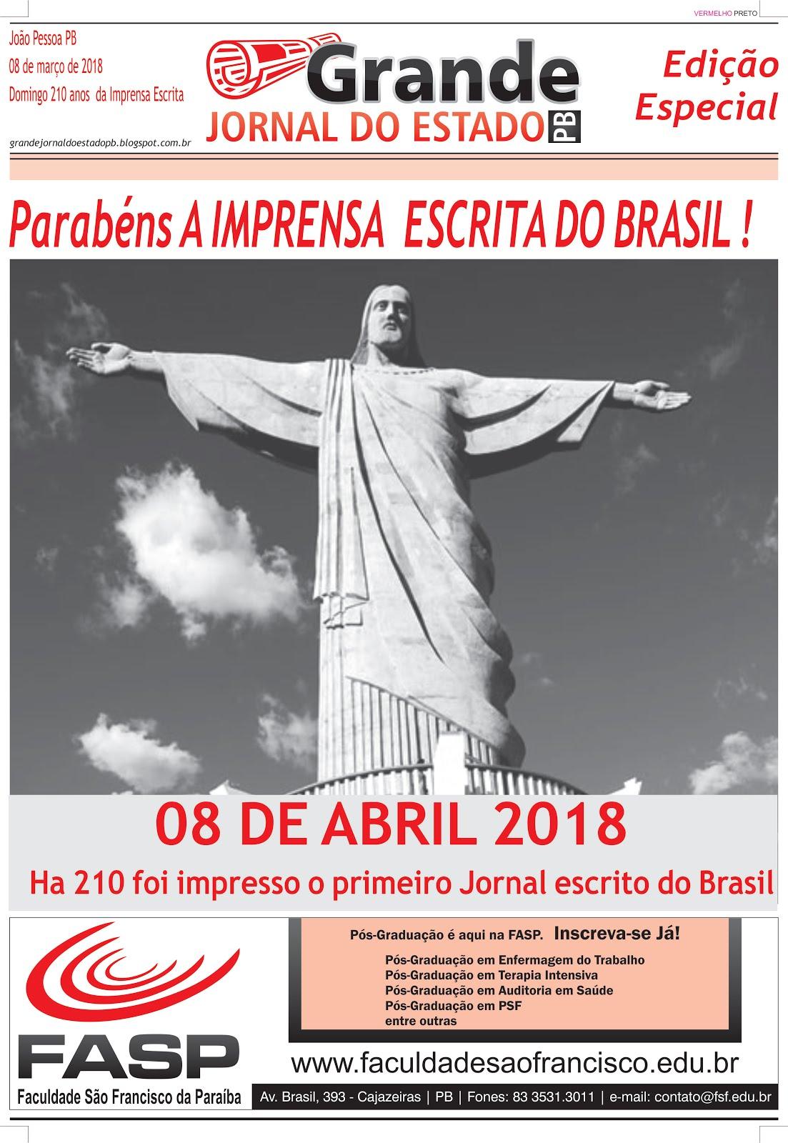 GRANDE JORNAL DO ESTADO PB  EDIÇÃO ABRIL  MAIO  2018