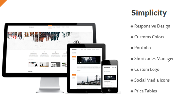 Simplicity – Responsive Business/Portfolio WordPress Theme