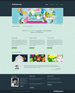Artthatworks: A wonderful one-page portfolio in Adobe Photoshop