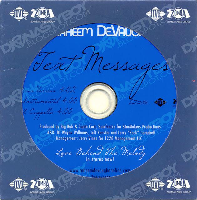 text messages lyrics raheem devaughn