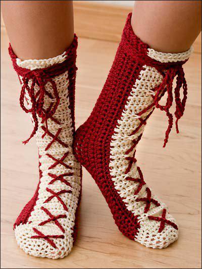 Güzel Örgü Çorap Örneği