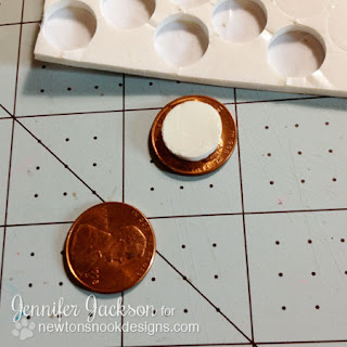 Penny Slider Card tutorial - Newton's Nook Designs - step 4