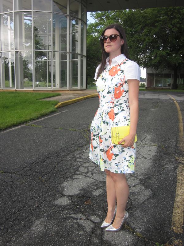 floral dress, gap