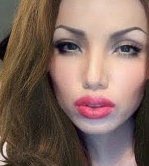 Make up Artist Promise Tamang Phan as Angelina Jolie
