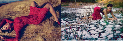 Red hot Rihanna on Vogue