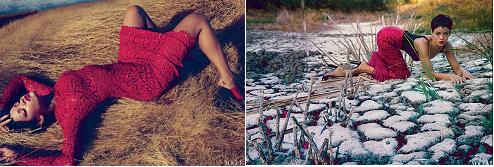 Red hot Rihanna on Vogue