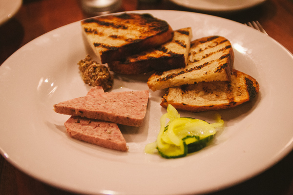 pate during restaurant week at Table 3 in Nashville Tennesse