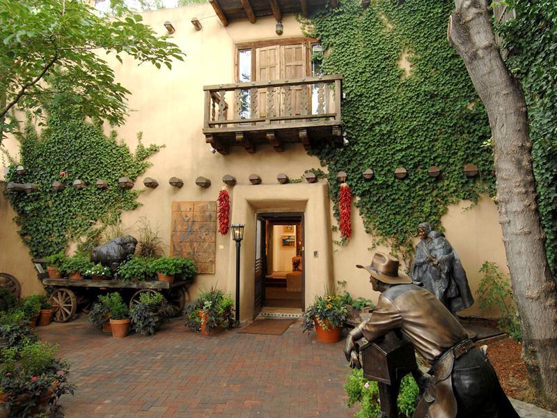Estilo rustico patios estilo santa fe - Patios con estilo ...
