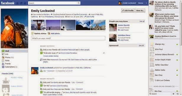 evolusi Facebook 2012