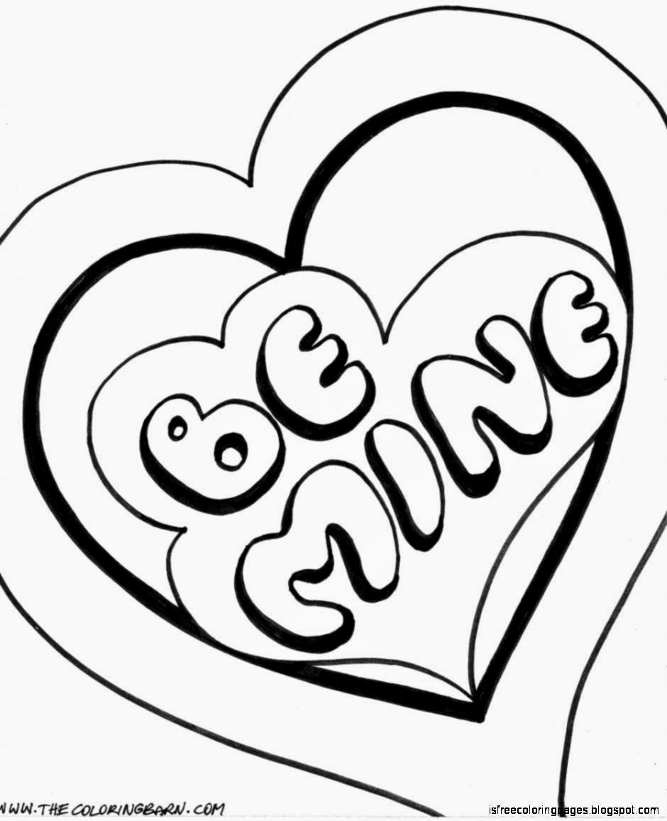 Free printable coloring pages for valentines day - View Original Size