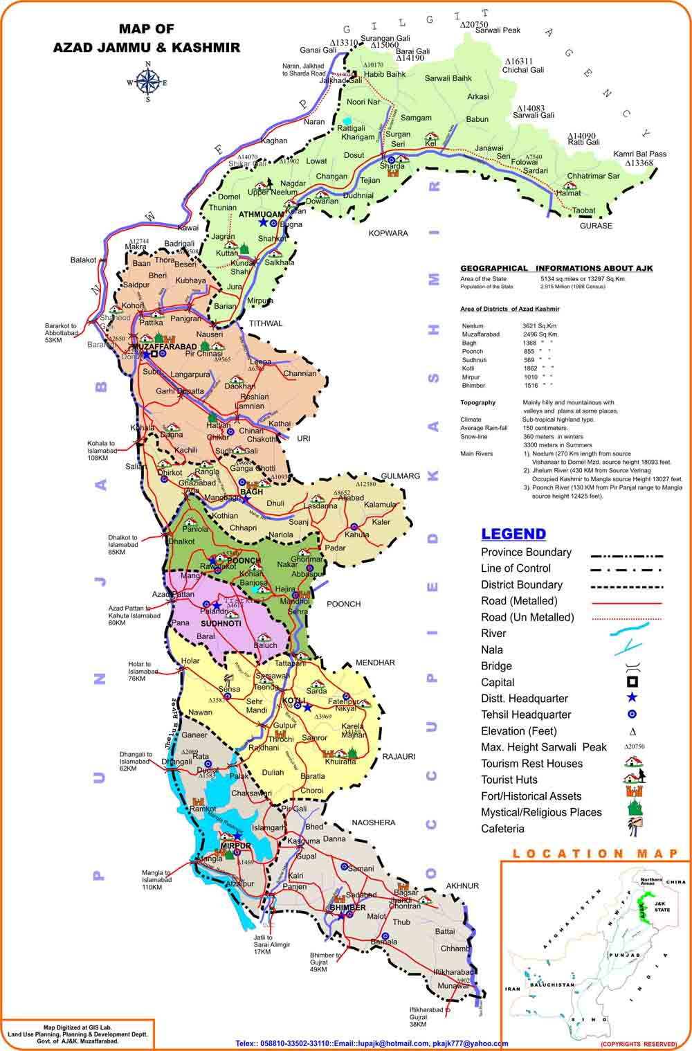 all of us must have heard about azad kashmir but do you know it exists in reality here is the map
