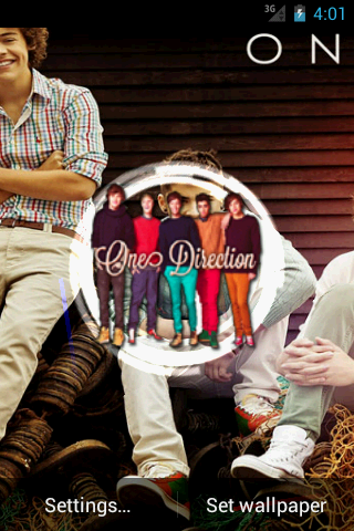 one direction live wallpaper live wallpapers 3d hd