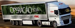 Caminhão itinerante da FMC agrícola em Cristalina