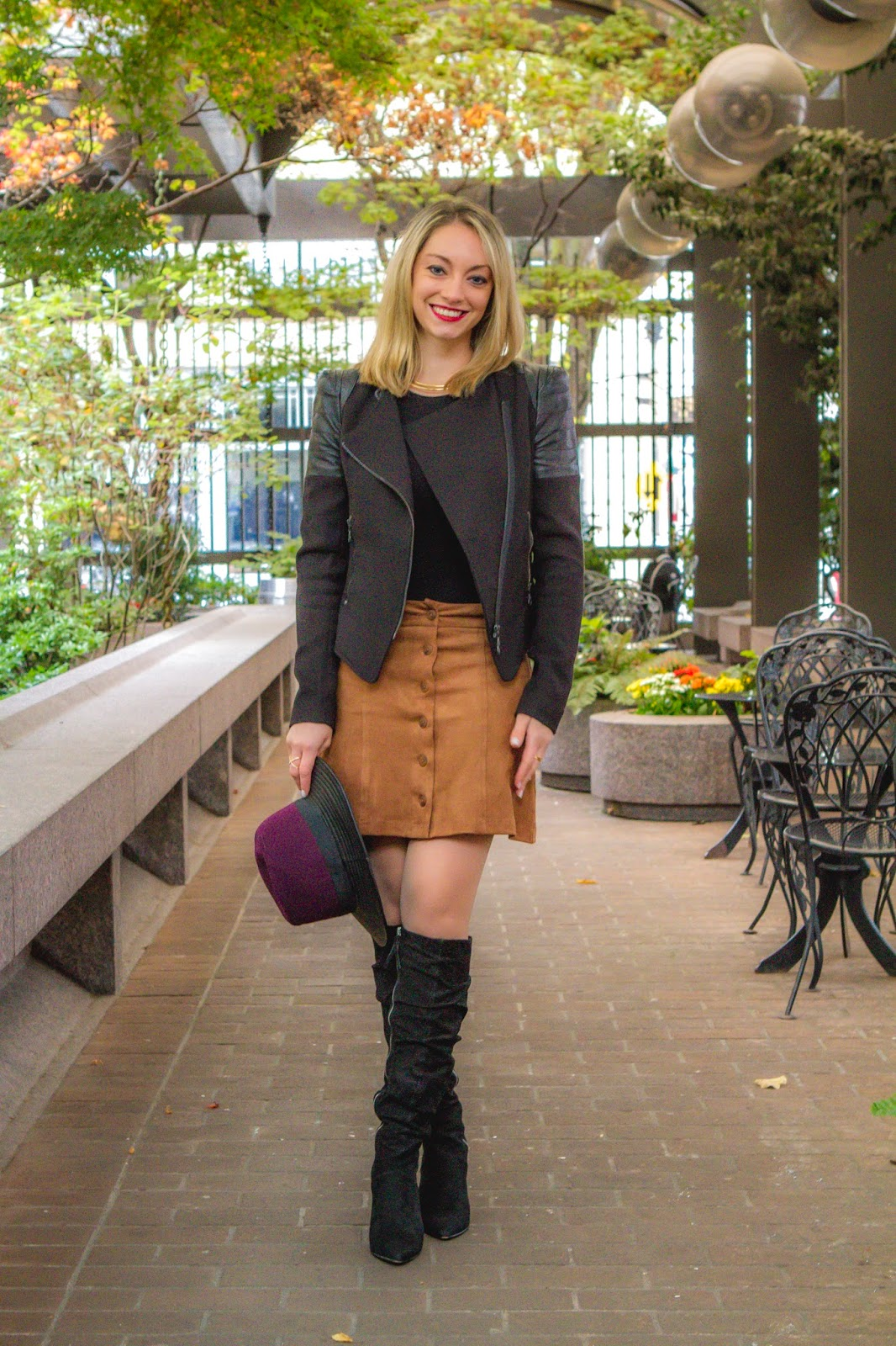 Suede Button Front Skirt Scrunch Knee Boots Shopbop Sale