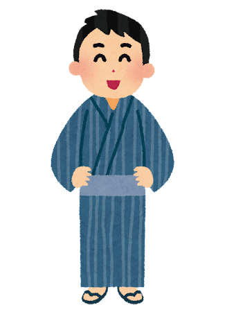 浴衣を着た男性のイラスト