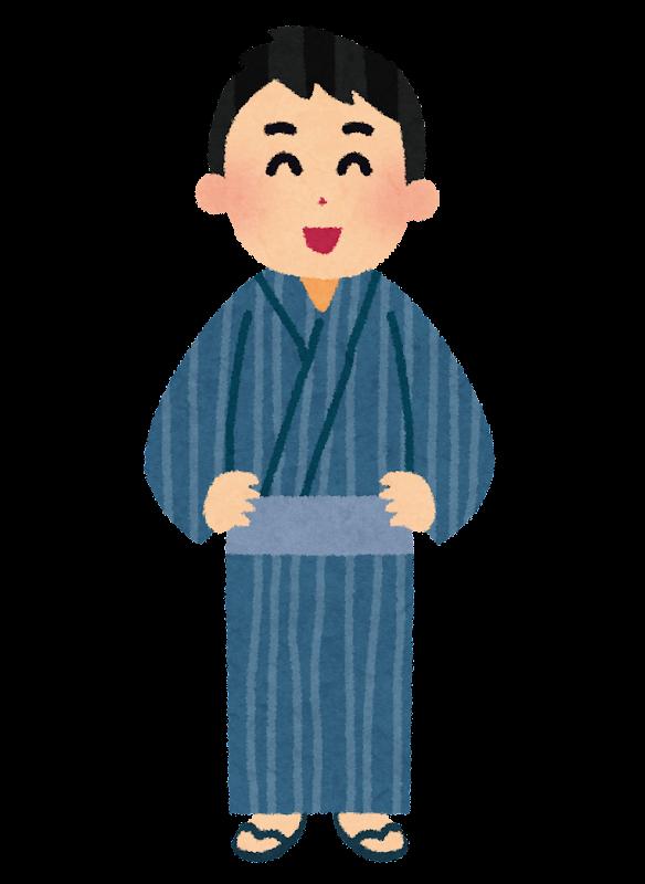 浴衣を着た男性のイラスト ... : 日本地図 ひらがな : ひらがな
