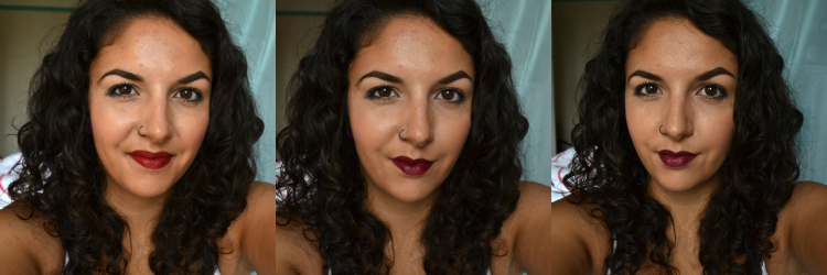 MAC Viva Glam II, Revlon Black Cherry, MAC Media